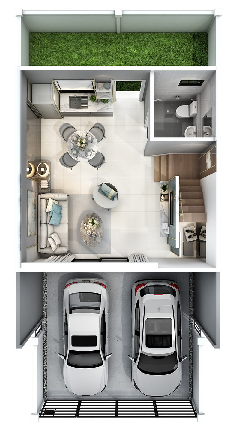 2560-9-13 Pleno Rangsit Klong4 - Floor Plan - 1F(M)