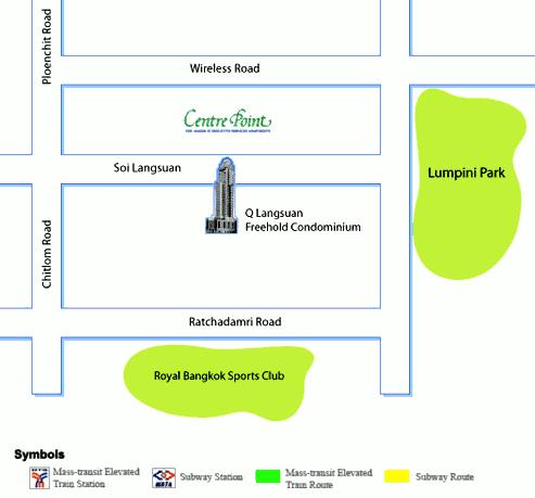 แผนที่ คอนโด คิว หลังสวน