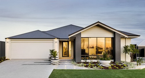 4 3 Single gable roof house plans