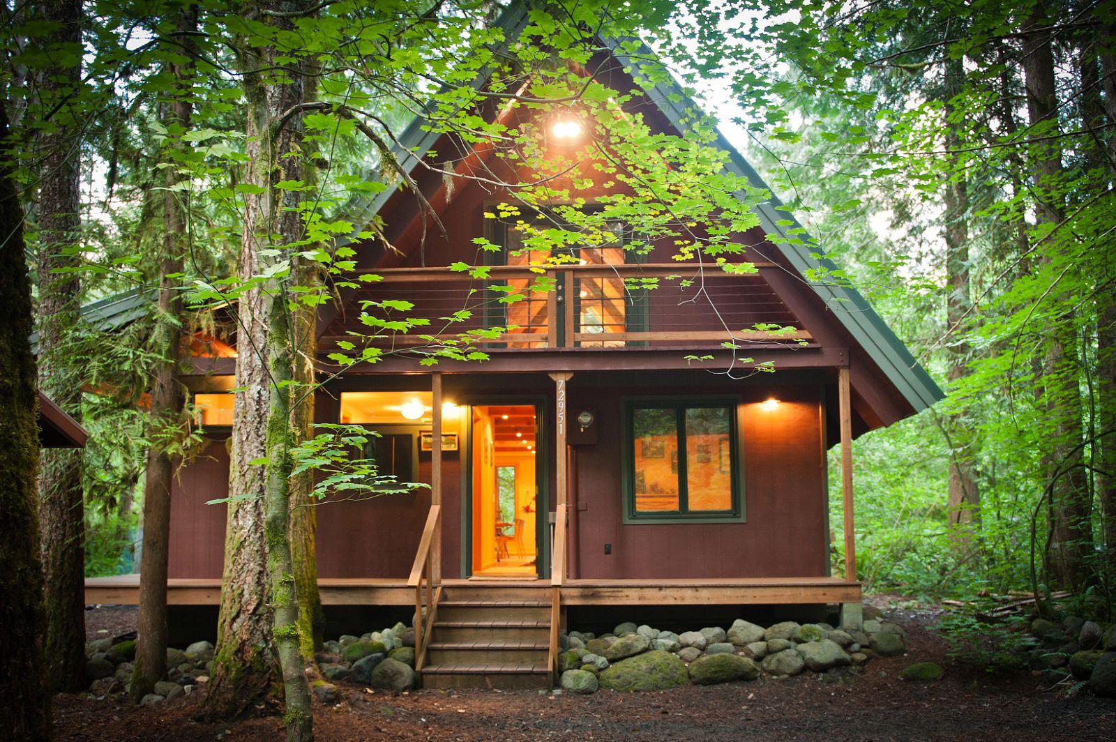 ผลการค้นหารูปภาพสำหรับ บ้านไม้กลางป่า
