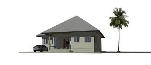 รีวิว : สร้างบ้านชั้นเดียวหลังน้อย พื้นที่ใช้สอย 90 ตร.ม. ในงบ 750,000 บาท