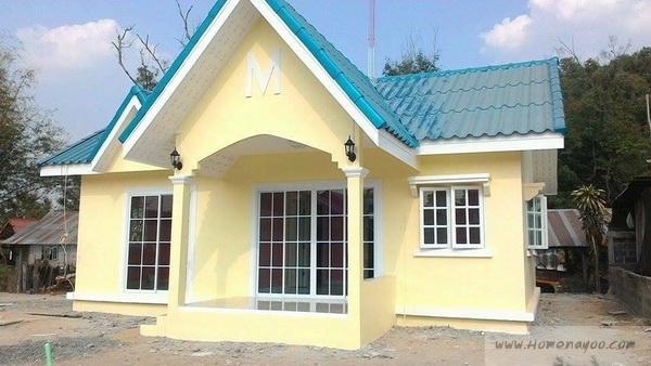 รีวิว : ปลูกบ้านชั้นเดียว ฟังก์ชั่นครบครัน สีหวานน่ารัก ด้วยงบเพียง 600,000 บาท
