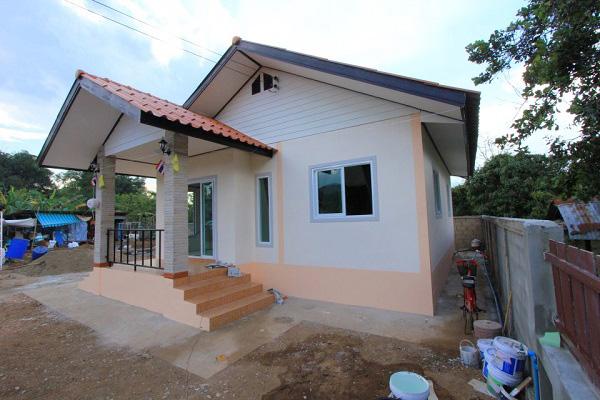 แบบบ้านสำหรับคนงบน้อย! ปลูกบ้านชั้นเดียว 2 ห้องนอน 1 ห้องน้ำ ด้วยงบ 410,000 บาท