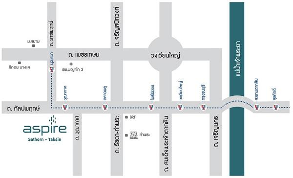 Map ASPIRE Sathorn-Taksin Copper Zone