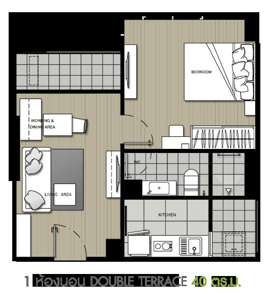 1 DBL Terrace 40