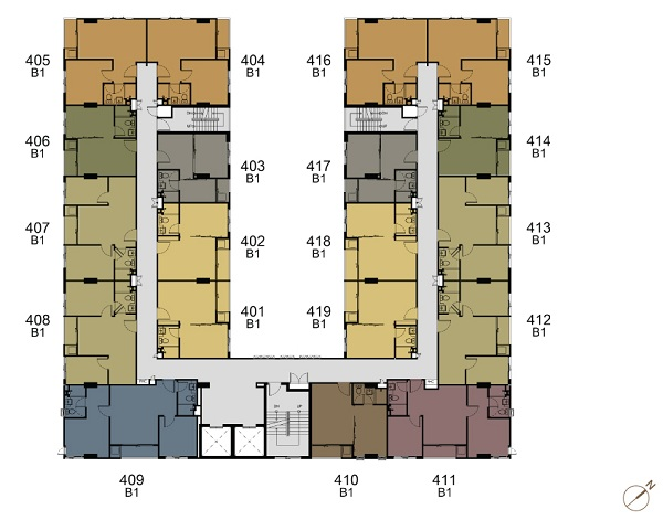 4th-8th Floor Plan