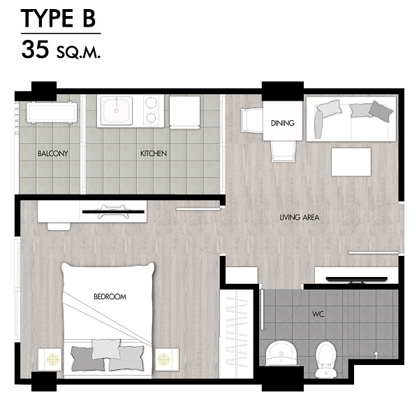 Niche Rama2 f2 Room Type B-01