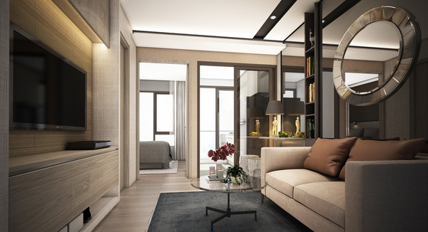 One Bedroom (Living)
