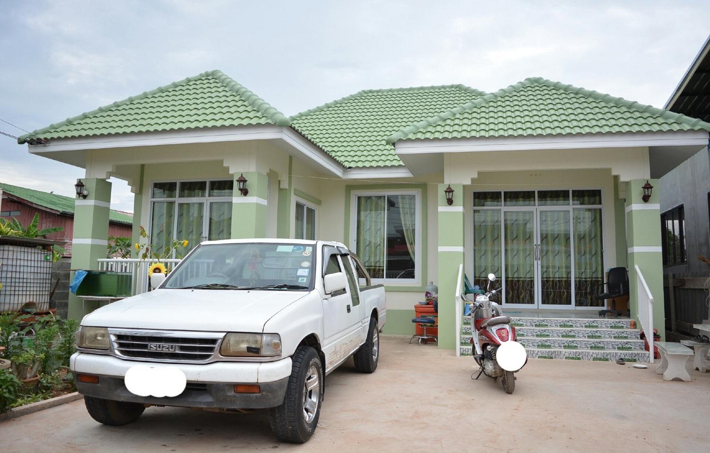 รีวิว : ปลูกบ้านเดี่ยวชั้นเดียว แบบบ้านในฝัน พื้นที่ใช้สอย 90.56 ตร.ม. ด้วยงบประมาณ 900,000 บาท