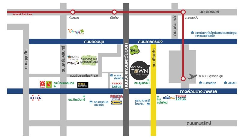 Map Goldentown บางนา-กิ่งแก้ว