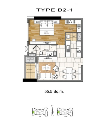 1 Bed - B2-1