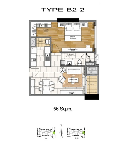 1 Bed - B2-2