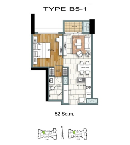 1 Bed - B5-1