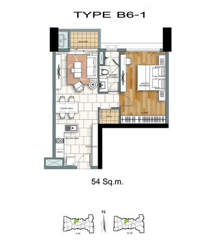 1 Bed - B6-1