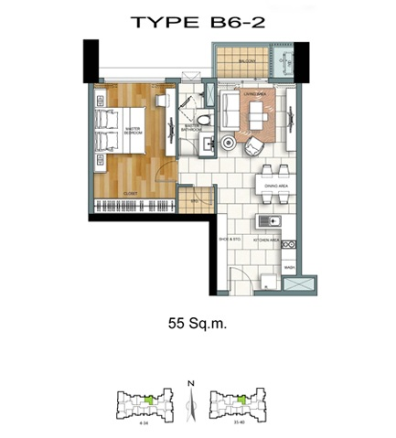 1 Bed - B6-2