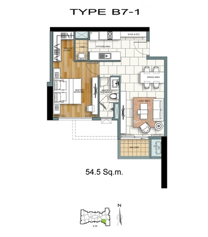 1 Bed - B7-1