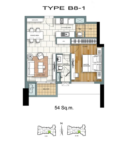 1 Bed - B8-1