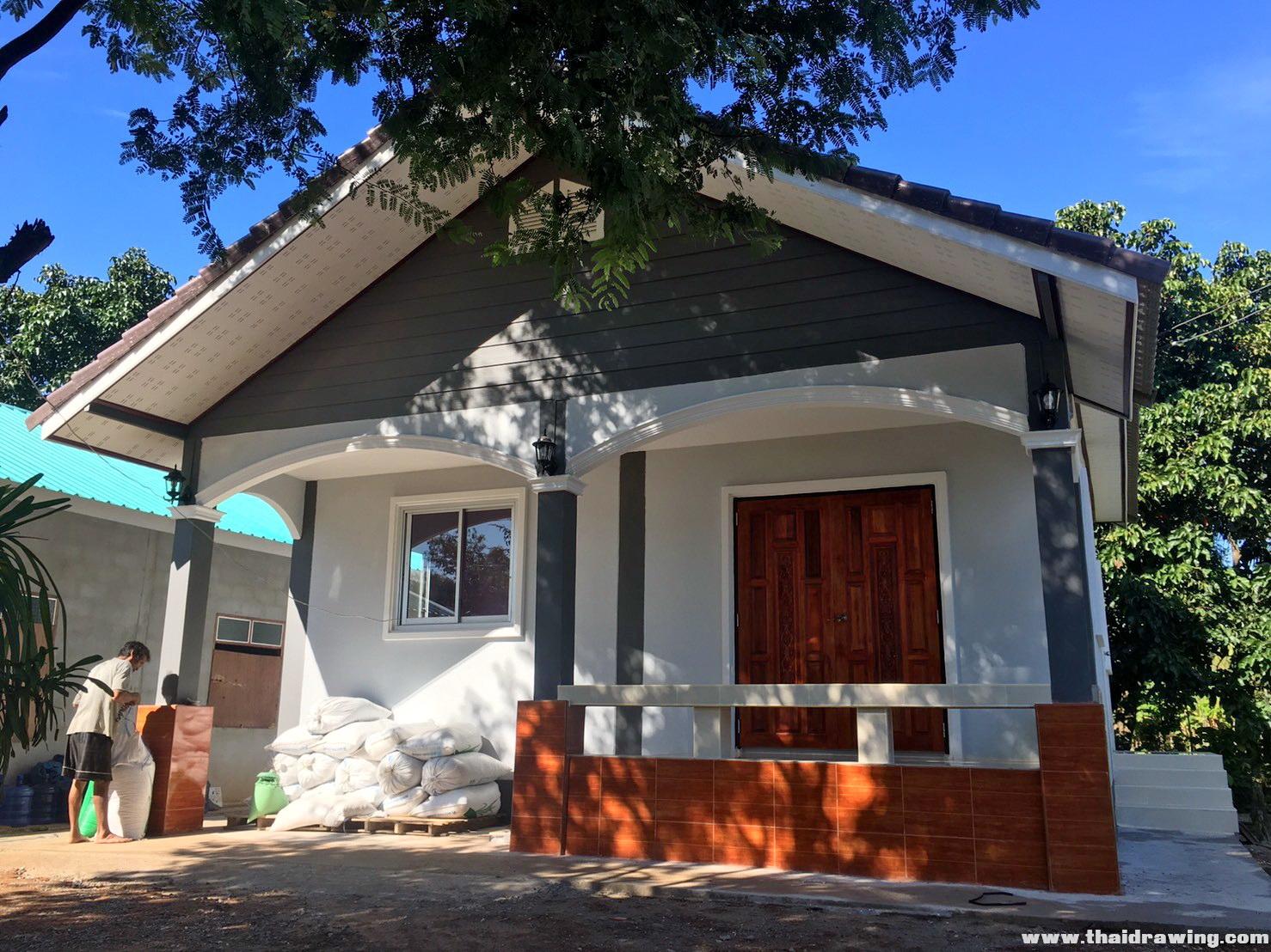 รีวิว งานก่อสร้างบ้านนาเดียเฮ้าส์ บ้านชั้นเดียว พื้นที่ใช้สอย 65 ตร.ม. งบประมาณ 600,000 บาท