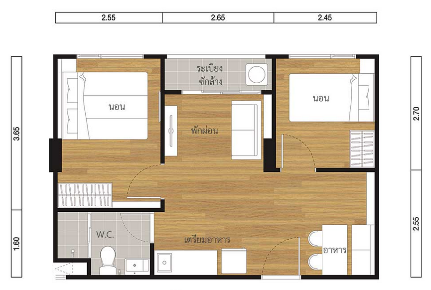2 Bed 39.00