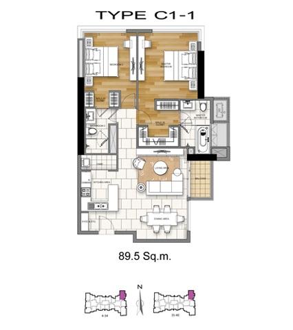 2 Bed - C1