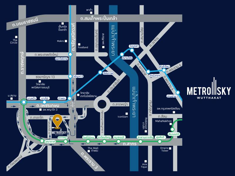 map Metro Sky Wutthakat