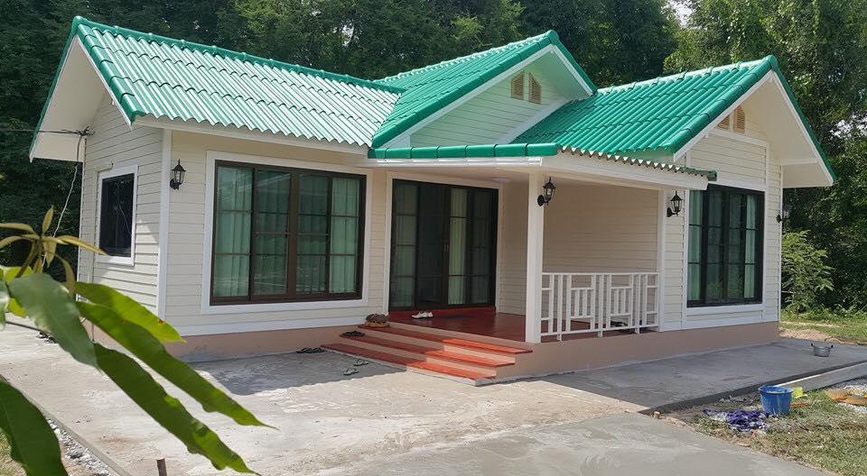 รีวิว : บ้านชั้นเดียว สไตล์คอทเทจ สวยหวาน พื้นที่ใช้สอย 55 ตร.ม. งบประมาณ 660,000 บาท