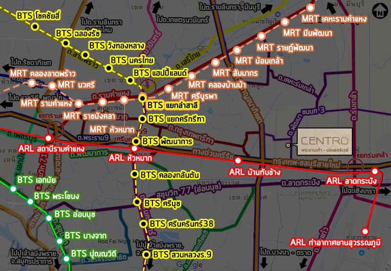 a1acentro rama9 BTS map