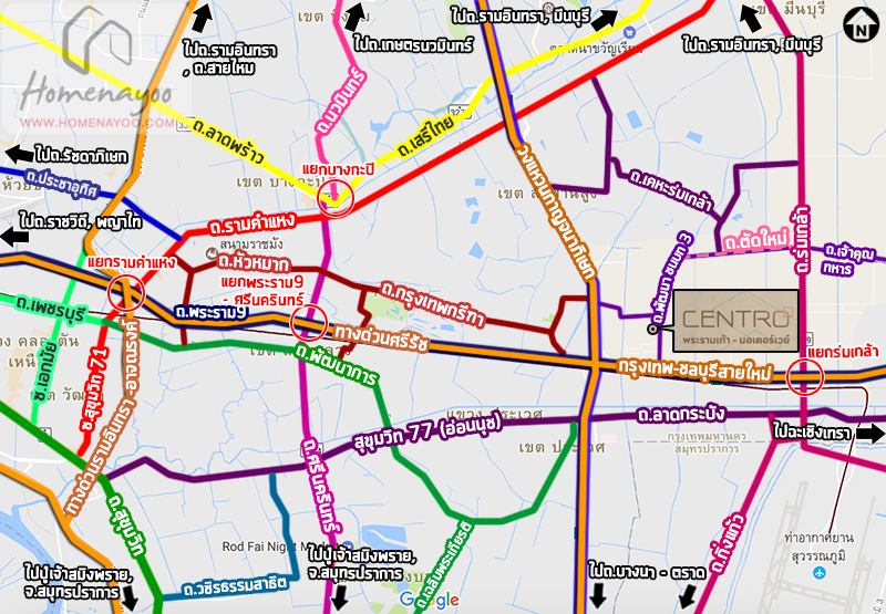 a1acentro rama9 way map