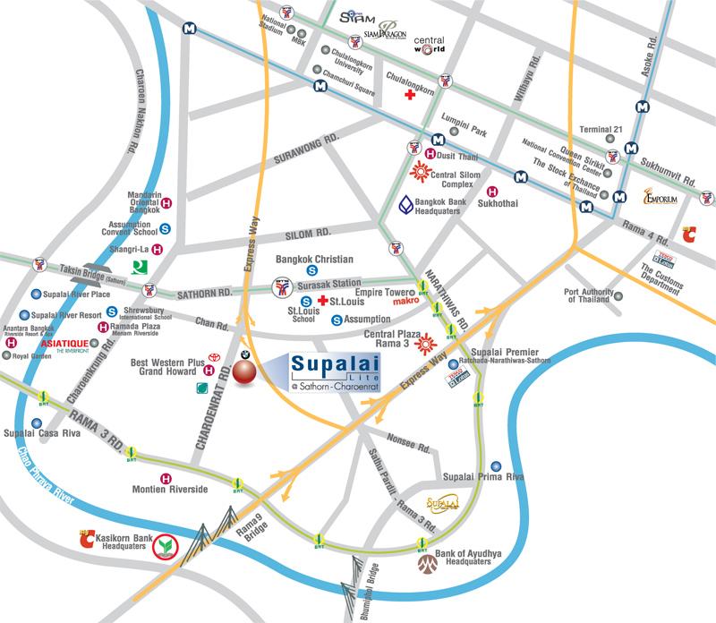 แผนที่-SUPALAI-LITE-SATHORN-CHAROENRAT