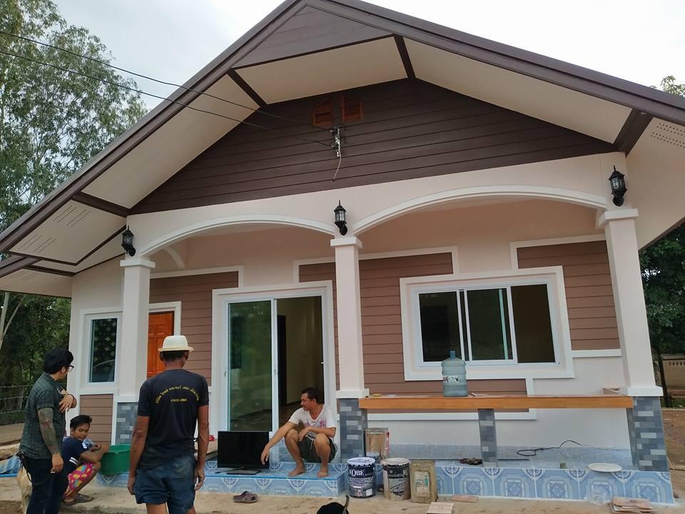 รีวิว ปลูกบ้านชั้นเดียว หลังคาจั่ว ขนาด 2 ห้องนอน 2 ห้องน้ำ งบประมาณ 650,000 บาท