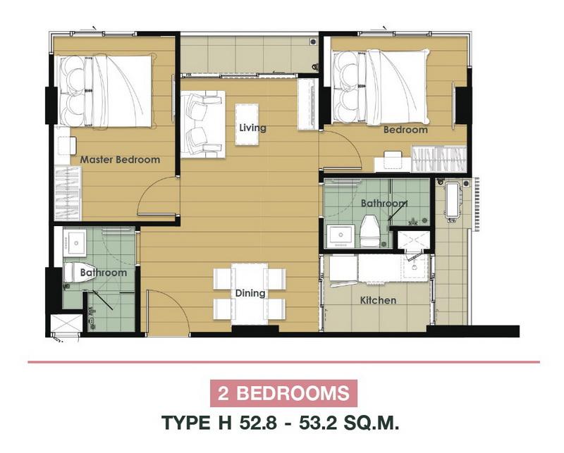 2 Bedroom-H