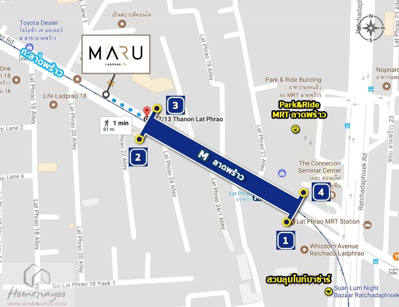 4.1 walk to mrt ladprao