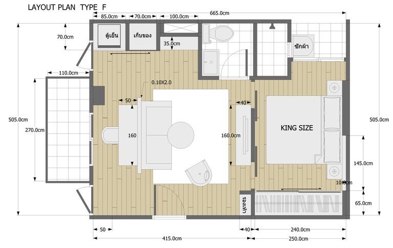 One Bedroom Type F
