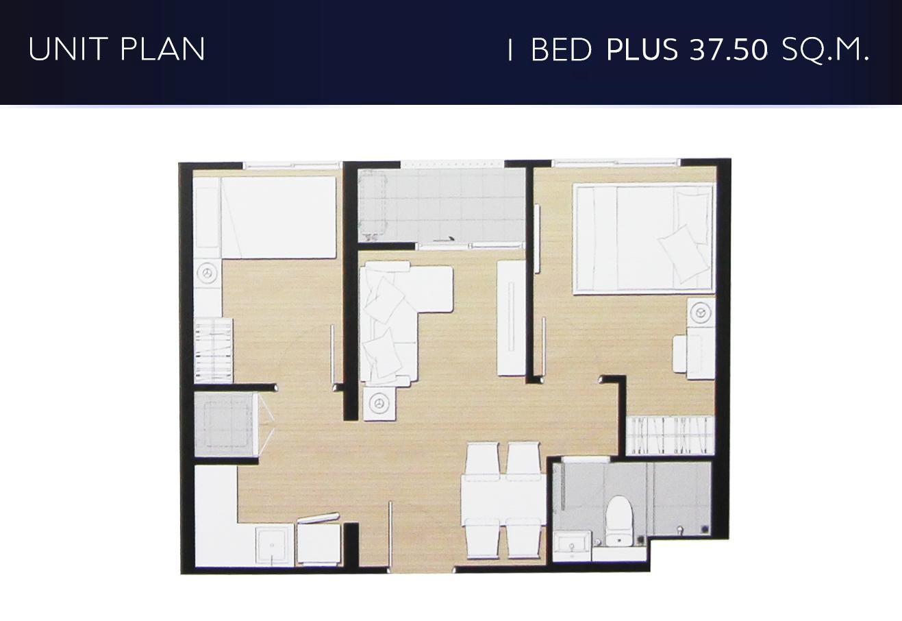 1 bed plus