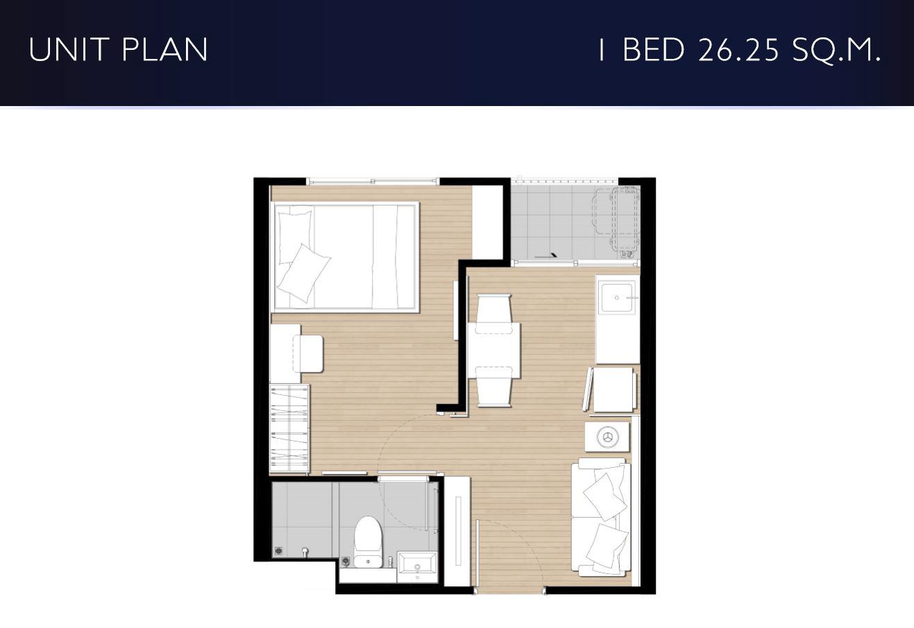 1 bed2