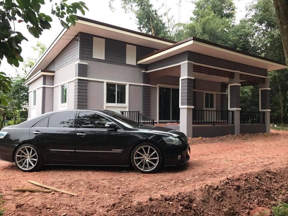 สร้างบ้านโมเดิร์นชั้นเดียวอย่างสวยพื้นด้วยงบประมาณ 400,000 บาท