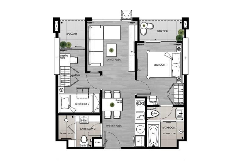 Suite(C1)_2 Bedroom(C2)