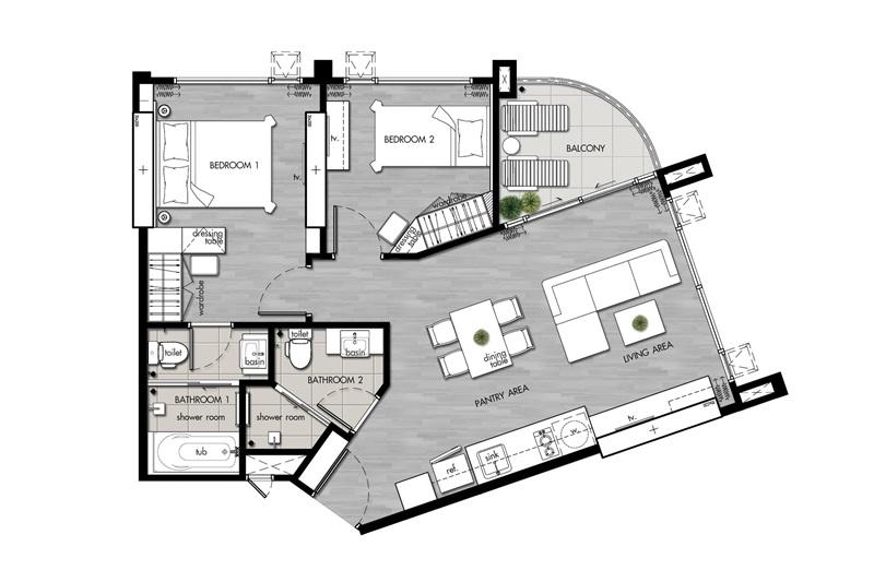 Suite(C2)_2 Bedroom(C1)