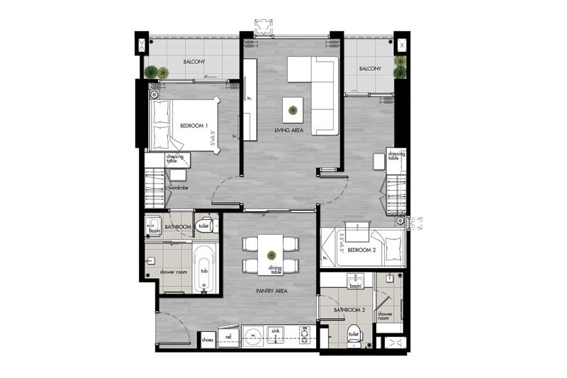Suite(C3)_2 Bedroom(C3)