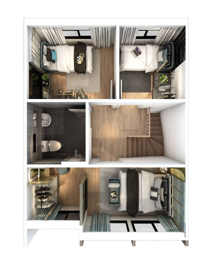 2560-9-13 Pleno Rangsit Klong4 - Floor Plan - 2F