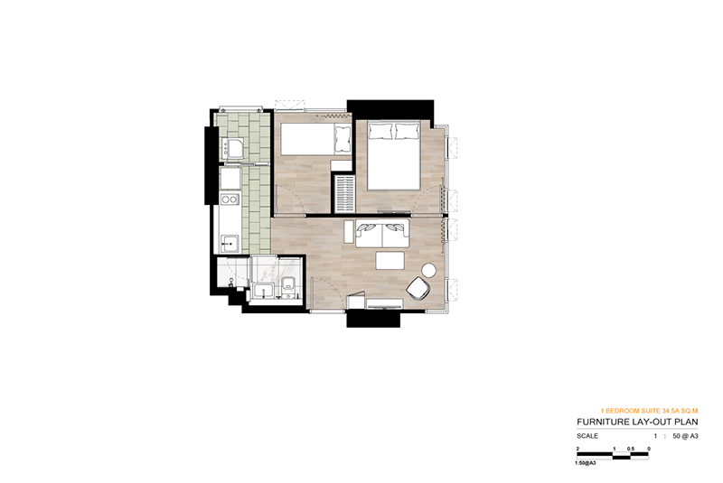 1BR Suite A 34.5