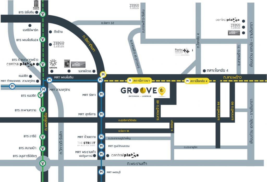 MAP Groove Condo Ratchada-Ladprao