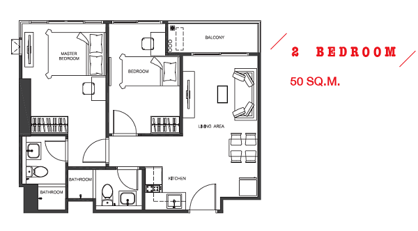 2 Bed 50