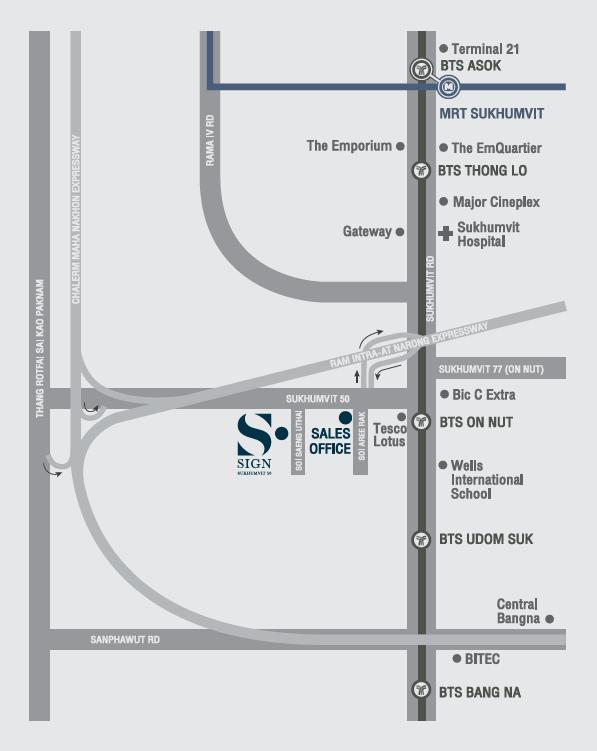 map sign condo