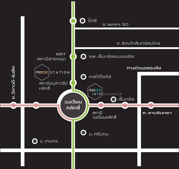 แผนที่ modiz interchange