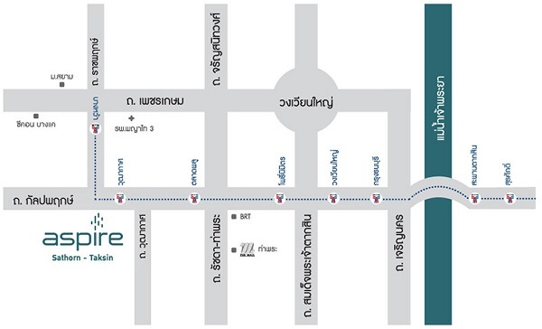 Map ASPIRE Sathorn-Taksin Copper Zone