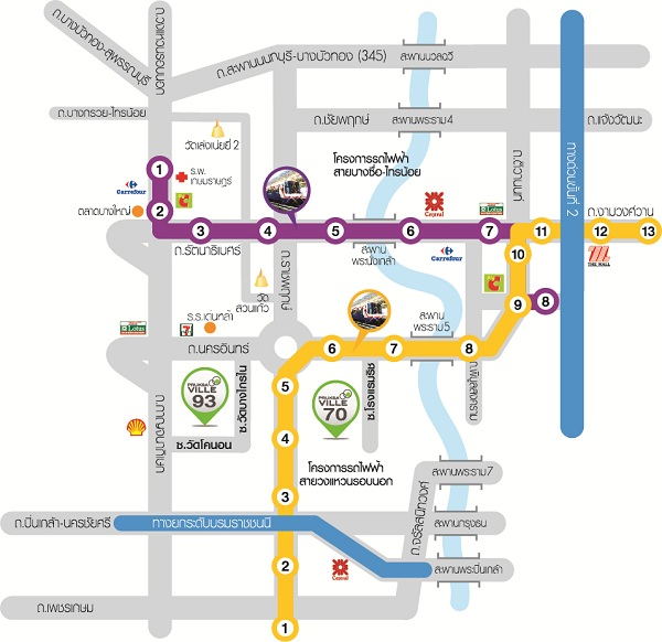 Map พฤกษาวิลล์ 93