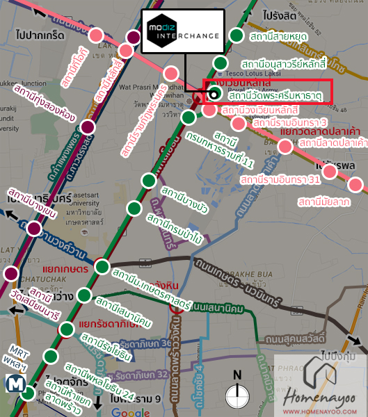 Map รฟฟ Interchange
