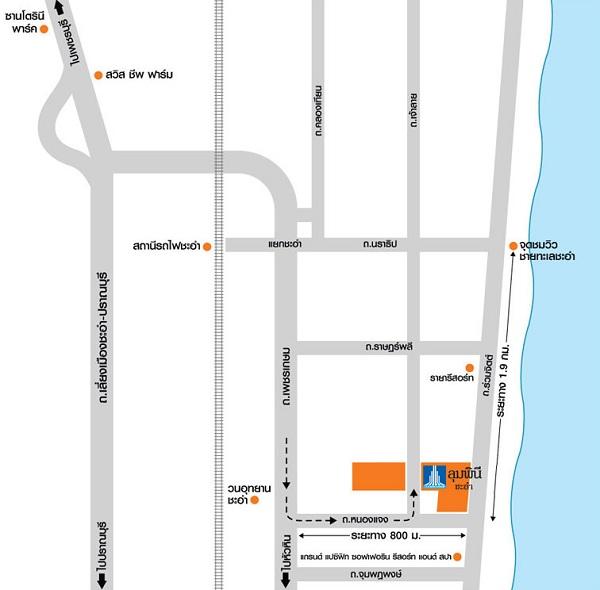 Map ลุมพินี ซีวิว ชะอำ