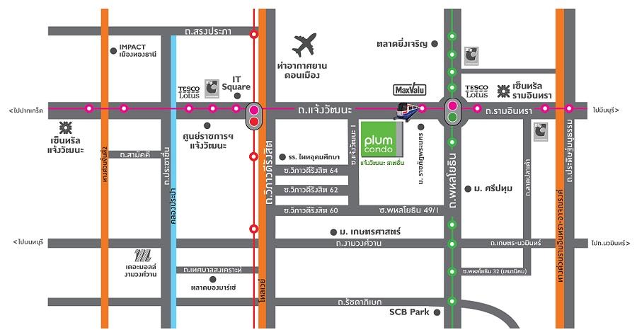 Map Plum-Condo-Chaengwattana-2